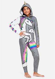 Justice is your one-stop-shop for on-trend styles in tween girls clothing & accessories. Shop our Unicorn Magic One Piece. Teenage Girl Outfits, Tween Girls, Kids Outfits, Cute Outfits, Fashion 101, Kids Fashion, Fashion Outfits, Fashion Clothes, Cute Pajamas