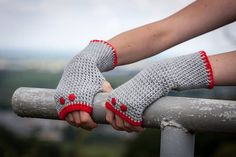 Pink Gray Fingerless Gloves / Comfortable Crochet Arm by RUKAMIshop Sell On Etsy, My Etsy Shop, Red And Grey, Purple Gray, Hand Crochet, Knit Crochet, Crochet Arm Warmers, Etsy Christmas, Christmas Gifts