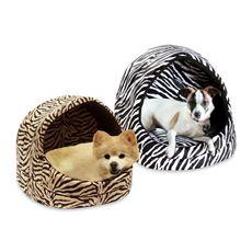 Best Friends by Sheri Kitty Hut Zebra 13-Inch Diameter Pet Beds - Bed Bath & Beyond