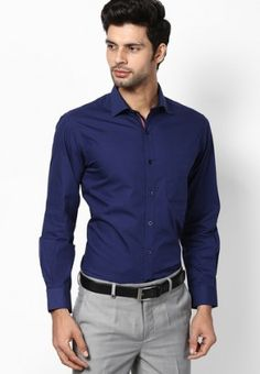 Men's Guide to Perfect Pant Shirt Combination | Dark blue shirt ...