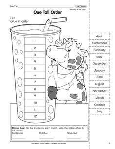 One Tall Order, Lesson Plans - The Mailbox