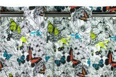 A Loja do Gato Preto | Cortinado Popline Borboletas @ Cortina Popline Mariposas #alojadogatopreto #cortinados #cortinas #texteis #textiles