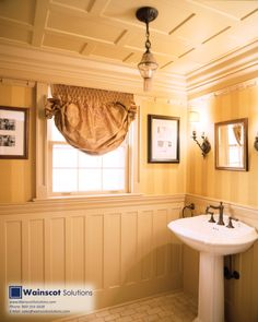 Add the best in architectural design to your bathroom with Wainscoting. Visit our website at: http://www.wainscotsolutions.com/
