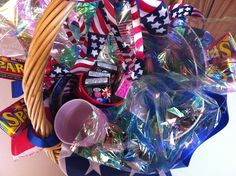 July 4 is a lovely day for a picnic.  This fun basket will get you started. Sparklers included!