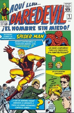 la primera aparición y el origen de Daredevil (Matt Murdock) publicado en Daredevil v1 #1 (abril de 1964).