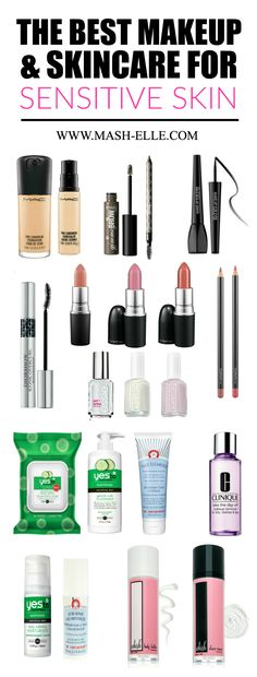 A complete list of the BEST makeup and skincare for sensitive skin! You'll want to bookmark this one!