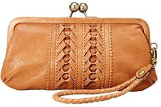 Fossil Lola Leather Ribbon Weave Clutch
