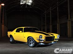 '72 Camaro  Yellow Jacket