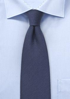 Wool Woven Necktie in Nightfall Blue