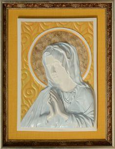Mary - 3D Porcelain Painting Porcelain, Mary, 3d, Frame, Painting, Home Decor, Picture Frame, Porcelain Ceramics, Decoration Home