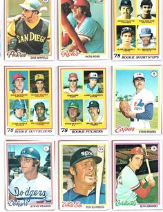 Paul Molitor 1978 Rookie plus Lot of 1978 Cards Incl. Peter Rose : Dave Winfield