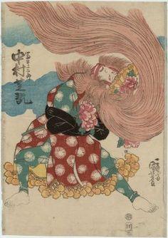 Actor Nakamura Shikan  Japanese, Edo period  Artist Utagawa Kuniyoshi, Japanese, 1797–1861, Woodblock print (nishiki-e); ink and color on paper, MFA
