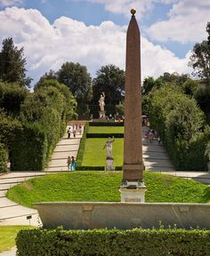 The Gardens of Boboli - Firenze, Italy with an Egyptian artifact
