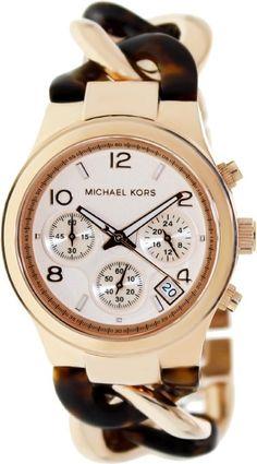 Michael Kors Runway Rose Gold-tone Tortoise Twist Chain Link Ladies Watch  MK4269 Rozsdamentes Acél a7ad86d1db