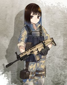 Aye she's holding a scar-H my favorite assault rifle