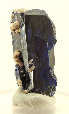 Dark blue crystal of AZURITE from Morocco,  25,95 ct