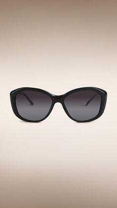 f1ec5329b17 Black Gabardine Lace Collection Square Frame Sunglasses -  http   www.smartbuyglasses.
