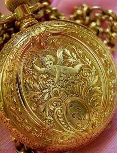 "Vintage Watches Ladies ""pocket"" watch circa actually worn around the neck. - Ladies ""pocket"" watch circa actually worn around the neck."