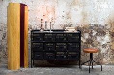 Aufbewahrungsmöbel im 100% Vintage-Industriedesign