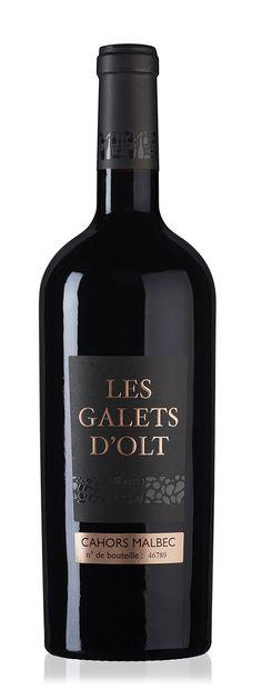 Les Galets d'Olt - AOP Cahors Malbec #wine #packaging #vinovalie