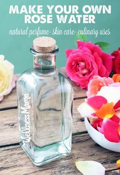 How to Make Rose Water - Learn how to make rose water as a fragrant natural ingredient for beauty recipes like perfume, soap and hair products and for cooking and cleaning. DIY Tutorial.