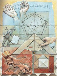 Freemasonry:  Working tools of the quarry. #Freemasonry.