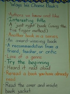 Ways to Choose Books