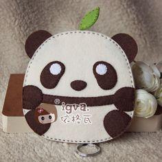 依格瓦 不织布 材料包 布织布 满包邮 熊猫钥匙零钱包 不织布钱包