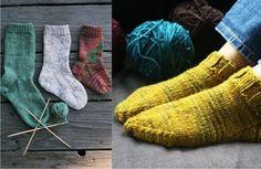 la oveja escocesa: Curso de tejer calcetines con 5 agujas