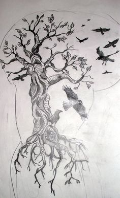 A sketch for a upper arm and chest tattoo