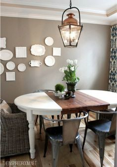 Spruce up your dining area with this fun DIY dining room table makeover!