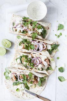 ... salmon lime wraps ...