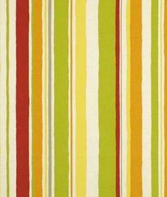 Robert Allen @ Home Baja Stripe Poppy Fabric - $10.85 | onlinefabricstore.net