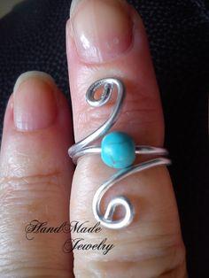 HandMade Spiral Shape Aluminum wire knuckles / toe / child Ring -non tarnish