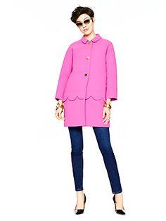 Talia coat, sweetheart pink from Kate Spade. Love! Love! Love!