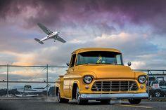 57 Chevy Trucks, Lowrider Trucks, Gm Trucks, Chevy 3100, Chevy Pickups, Custom Trucks, Custom Cars, My Dream Car, Dream Cars