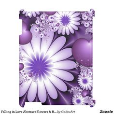 Falling in Love Abstract Flowers & Hearts Fractal Case For The iPad 2 3 4