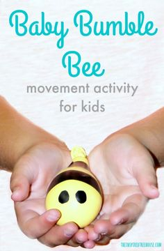 Baby Bumble Bee Movement Activity for Kids - The Inspired Treehouse Bee Activities, Movement Activities, Spring Activities, Infant Activities, Music Activities For Kids, Creative Activities, Preschool Music, Preschool Lessons, Lessons For Kids