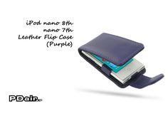 PDair iPod nano 8th / nano 7th Leather Flip Case (Purple)