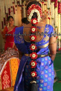 31 Ideas for south indian bridal hairstyles Hairstyles For Gowns, Bridal Hairstyles With Braids, Bride Hairstyles, Hairstyle Ideas, South Indian Wedding Hairstyles, South Indian Weddings, Shower Dress For Bride, Hindu Bride, Kerala Bride