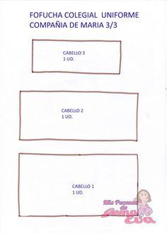 Moldes de Fofucha Colegial Uniforme de María.  En la entrada de mi blog: http://mispecosasdegomaeva.blogspot.com.es/2014/12/fofucha-colegial-uniforme-de-colegio.html