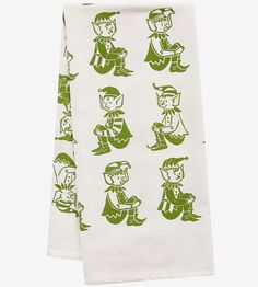 Makes me happy. Elf Block Print Kitchen Towel by artgoodies