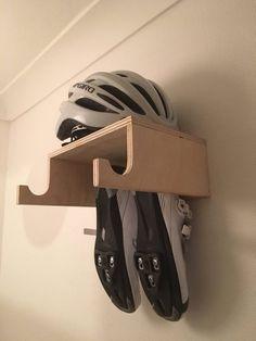 Handmade Birch Ply Wooden Bike Rack, Wall Mounted Hook, Bike shelf designed for simple bike storage. Indoor Bike Rack, Indoor Bike Storage, Diy Bike Rack, Bike Hooks, Bike Shelf, Bike Storage Rack, Bicycle Rack, Shoe Storage, Garage Bike Storage