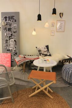 Love the mix and the relaxed atmosphere. Bloomingville.
