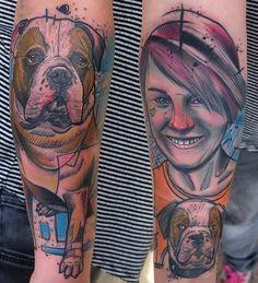 Schwein Elschwino dog tattoo