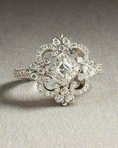 Unique wedding ring. I know how obsessed with pearls I am but I would so be okay with this