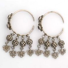 Morocco | Earrings from Ait Ouaouzguit | Silver | ca. 1920