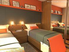 Dormitório 2 jovens - obra e marcenaria.
