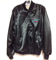 Vtg The Heartbeat Of America Chevrolet Chevy Mens Large Black Jacket Pink Blue  | eBay