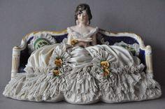 Lovely Dresden Germany Lace Porcelain Lady Figurine | eBay